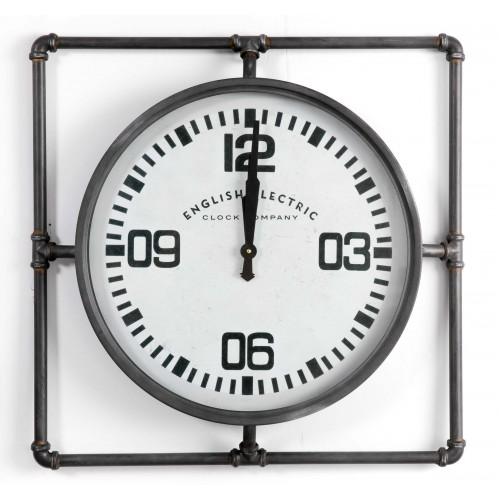 Reloj de pared industrial English