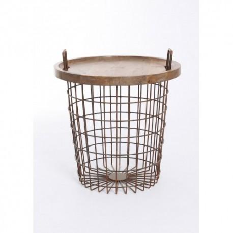 Mesa Basket en madera de Acacia